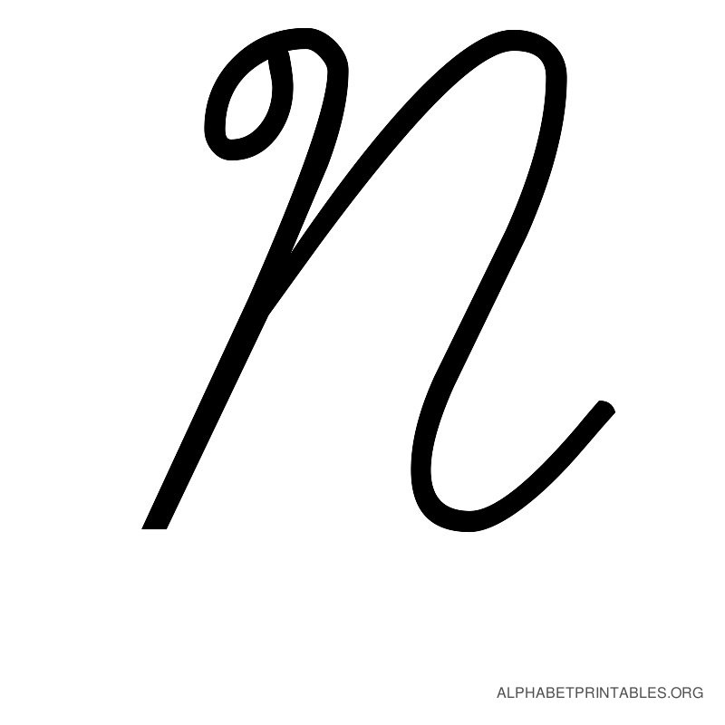 Cursive Alphabet Letters in Printable Format  Capital UppercaseN In Cursive