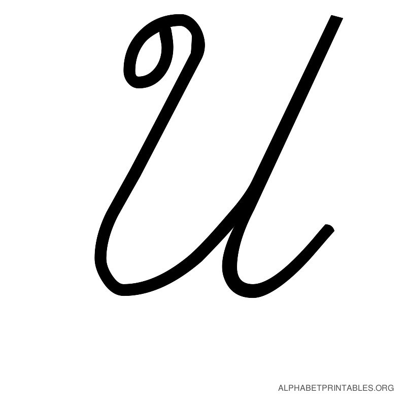 The Letter U In Cursive Printable cursive alphabets uppercase alphabet ...