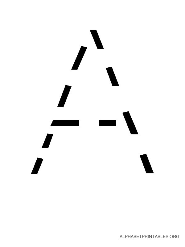 Capital Handwriting Tracing Letters A