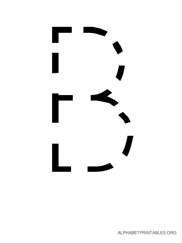 Capital Handwriting Tracing Letters B