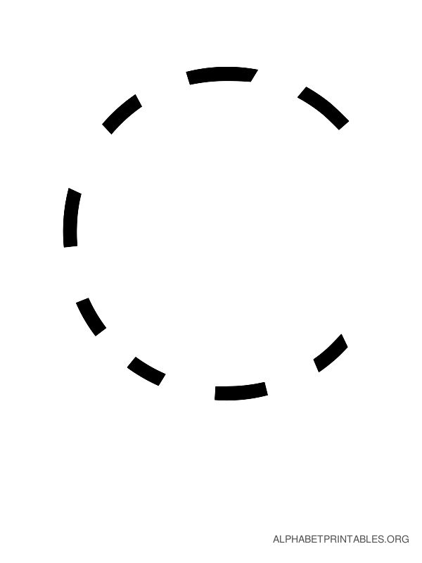 Capital Handwriting Tracing Letters C