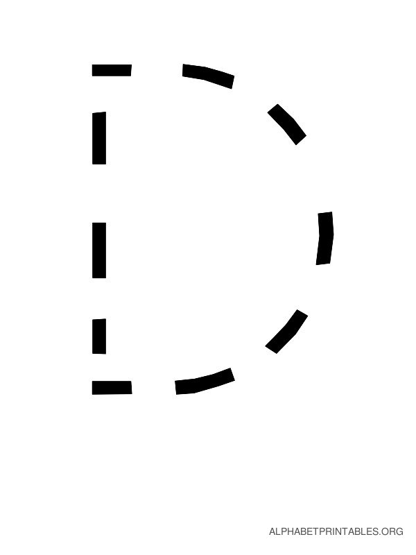 Capital Handwriting Tracing Letters D