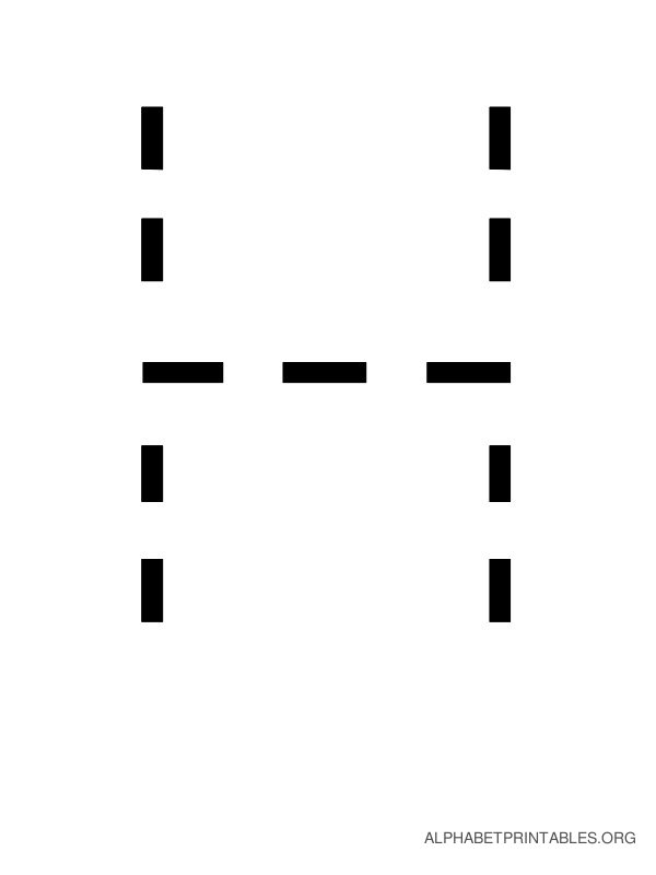 Capital Handwriting Tracing Letters H