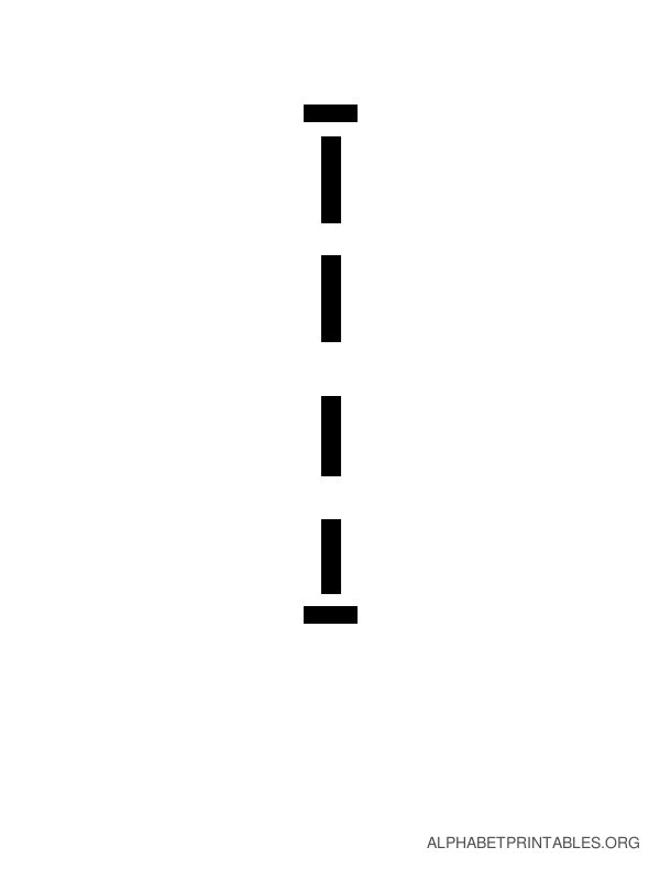Capital Handwriting Tracing Letters I