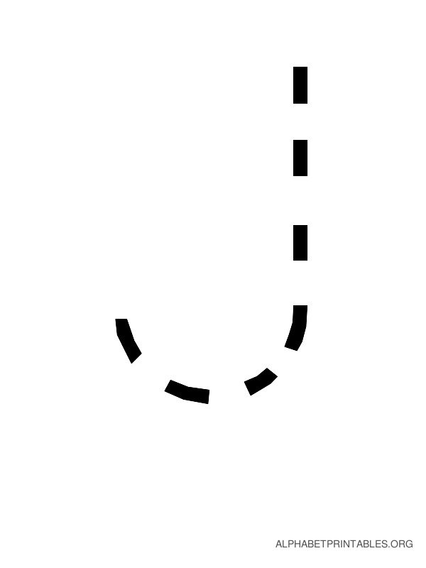 Capital Handwriting Tracing Letters J