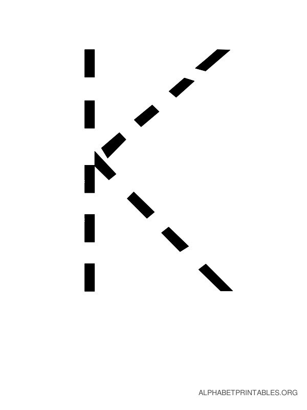 Capital Handwriting Tracing Letters K