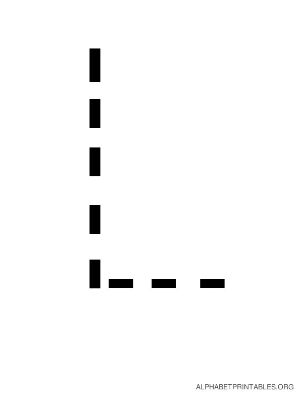 Capital Handwriting Tracing Letters L