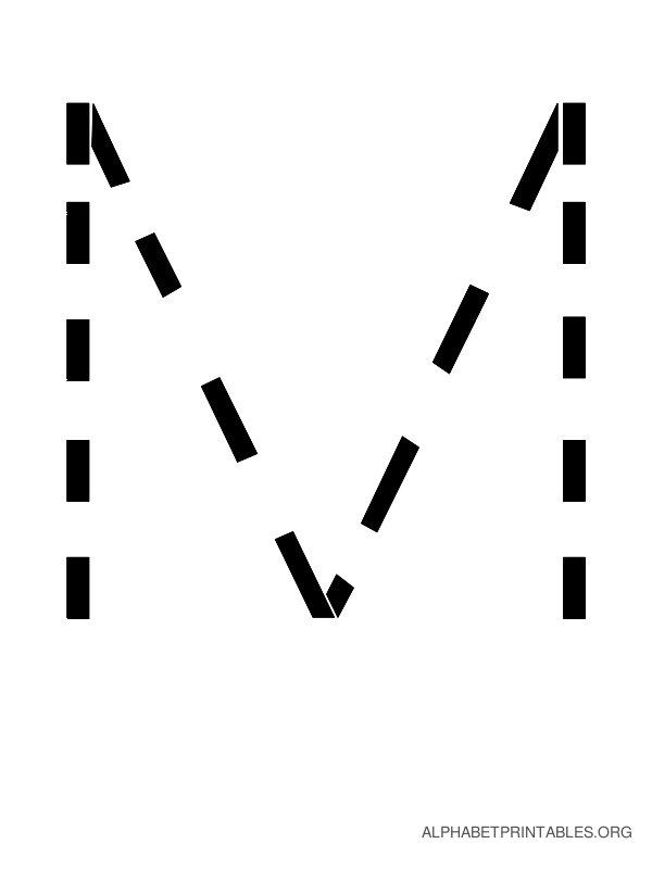 Capital Handwriting Tracing Letters M