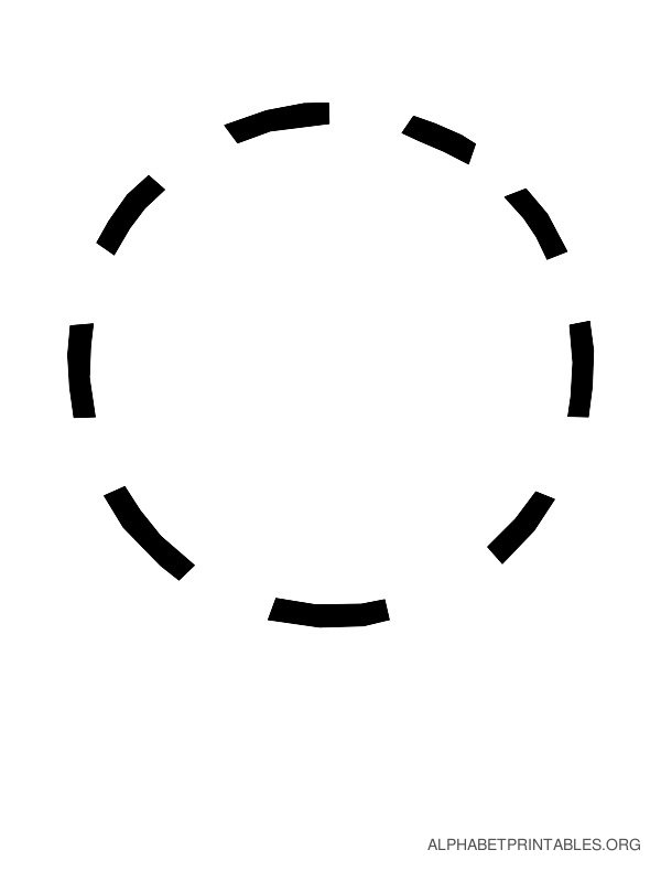 Capital Handwriting Tracing Letters O