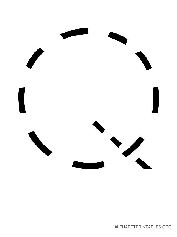 Capital Handwriting Tracing Letters Q