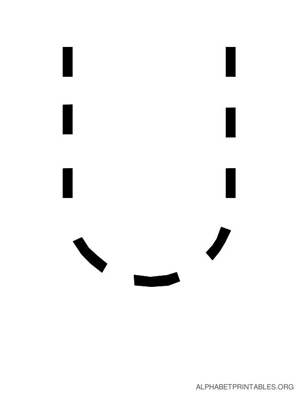 Capital Handwriting Tracing Letters U