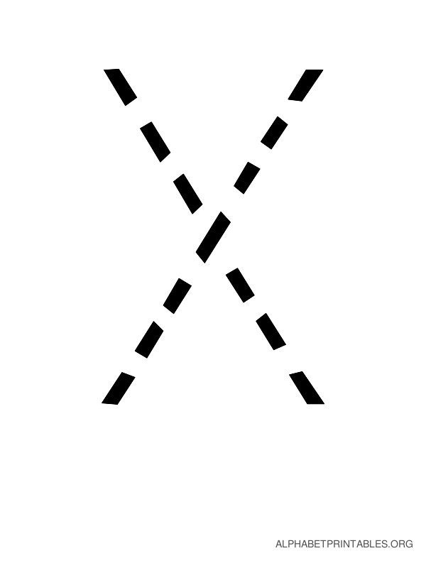 Capital Handwriting Tracing Letters X