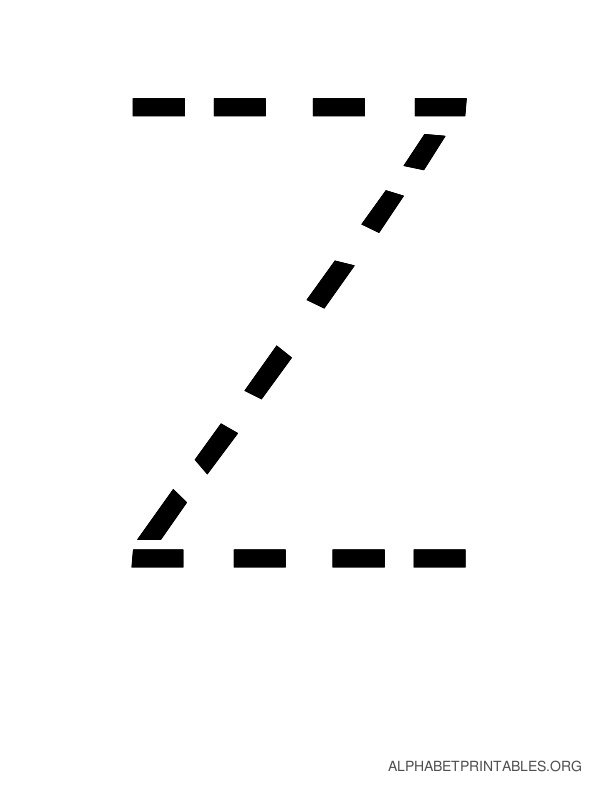 Capital Handwriting Tracing Letters Z