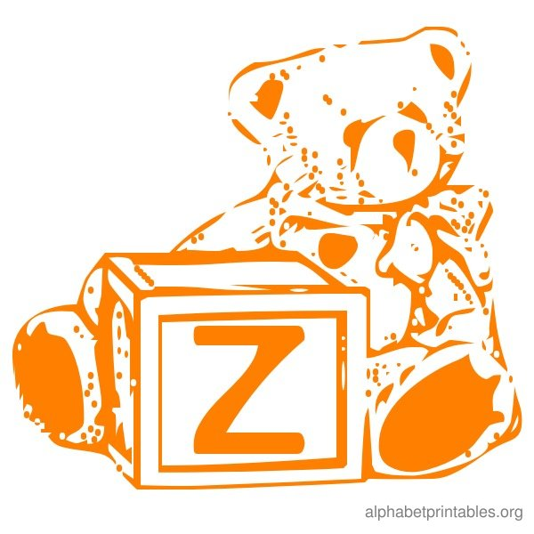 Alphabet Flash Cards Z