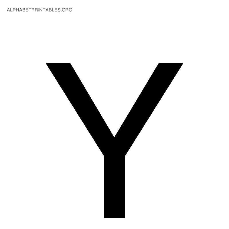 Black alphabet letters alphabet printables org black alphabet letter y thecheapjerseys Image collections