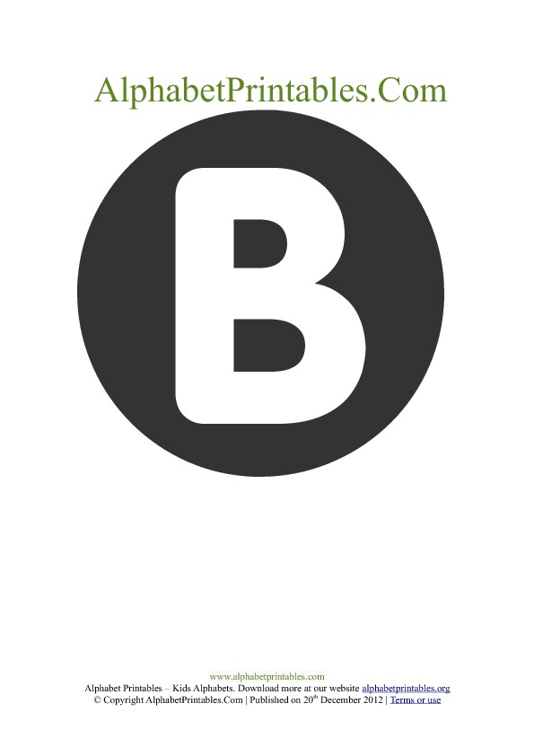 Word wall printable letter B