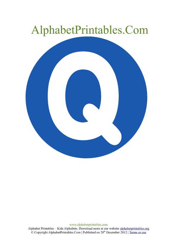 Word wall printable letter Q