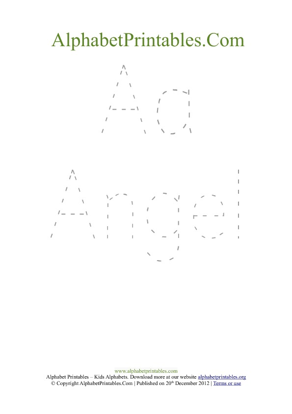 Printable Alphabet Word Tracing Handwriting Worksheets – A-z Worksheets