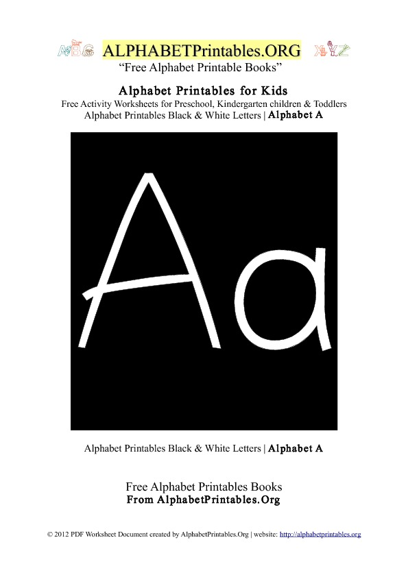 letter a printables for toddlers alphabet printables for alphabet printables org 21010 | alphabetprintables letter a blackwhite